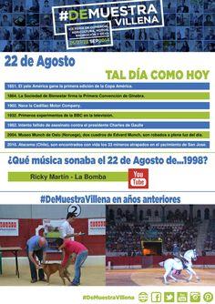 TAL DÍA COMO HOY. 22 de Agosto. #DeMuestraVillena  www.muestravillena.villena.es www.facebook.com/Muestravillena @muestravillena