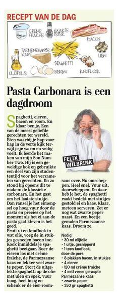 Pasta Carbonara is een dagdroom