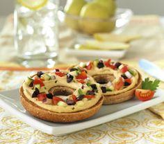 Healthy Hummus Bagels