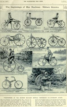history of bicycle for war