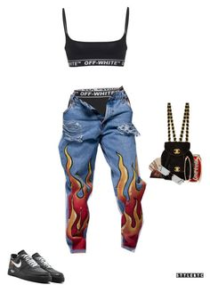 """""""Untitled #534"""" by thefvshionjuice ❤ liked on Polyvore featuring Off-White, Levi's, Rosa de la Cruz and Cartier"""