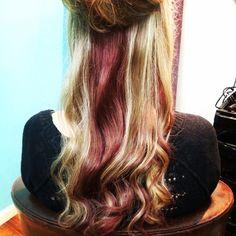 Red and blonde -Bella vie salon