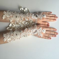 A personal favorite from my Etsy shop https://www.etsy.com/listing/270199800/new-long-bridal-gloves-crystal-beaded