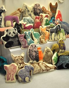 Fabric Transfer Animals (the transfers not the finished animals). Good way to learn to use the sewing machine.