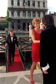 June 8, 1995: Princess Diana attends a private reception & dinner in Venice, Italy.