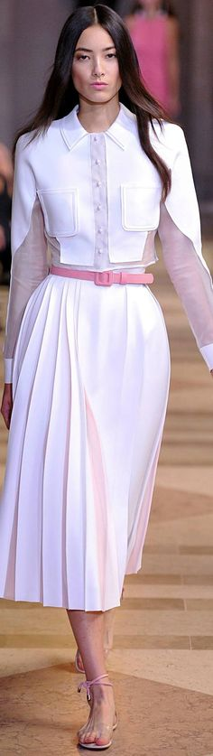 """Carolina Herrera Spring 2016 """"And the LORD said to Moses, """"Go to the people and…"""