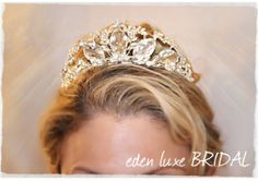 Crystal Bridal Tiara Royal Couture - PRINCESSA Wedding Crown, Rhinestone Tiara, Wedding Tiara, Diamante Crown, Princess Bride Tiara - TheWed...