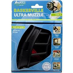 The Company of Animals Baskerville Ultra Muzzle for Dogs Size 4 5' L X 4' W X 5.25' H * For more information, visit now : Dog muzzle