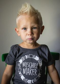 Mischief Maker Tee - use heat transfer materials and a heat press to make one for your little trouble maker.