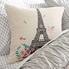 Tres Chic Eiffel Tower Pillow Cover #pbteen