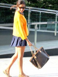 miss_mocasines_538046 Outfit   Otoño 2013. Combinar Sudadera Naranja calabaza Zara, Bolso Marróno Louis Vuitton, Cómo vestirse y combinar según miss_mocasines_538046 el 3-10-2013
