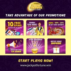 Take a look at Jackpot Fortune promotions! Register and get 10 Free Spins with no Deposit! Bingo Casino, Play Casino, Casino Games, Online Gambling, Best Online Casino, Online Casino Bonus, Bingo Bonus, Casino Promotion, Play Slots