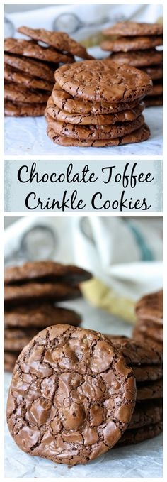 These Chocolate-Toffee Crinkle Cookies are essentially just soft and rich…