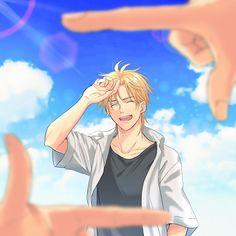 Rest in piece Ash Lynx 💖💖 Anime Boys, Anime W, Fanarts Anime, Anime Characters, Ashes Love, Banana, Shounen Ai, Fish Art, Manga Games