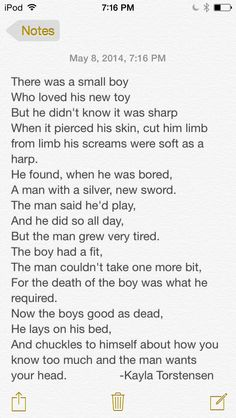 I wrote a Creepypasta poem and thought I would share it ;