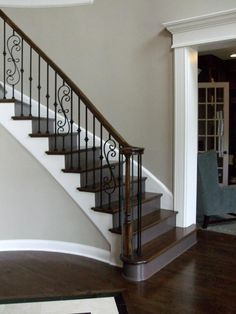 new home staircases oak craftsman and more styles and trends rh pinterest com basement stairway decorating ideas basement stairway paint ideas