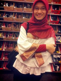 in shoe store