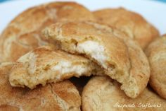 Ummm, YUM!     Cream Cheese Filled Snickerdoodles...I haven't made these yet, but they sound SINFULLY GOOD!