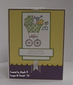 Baby Shower by Angela R - Cards and Paper Crafts at Splitcoaststampers
