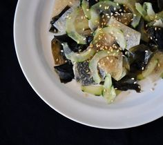 Recipe:  Wakame, Cucumber, and Jicama Salad
