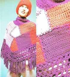 CROCHET PATTERN Vintage chunky patchwork by GrandmaHadItGoinOn