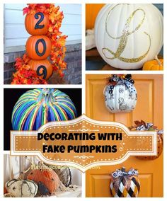 DIY fall decor with
