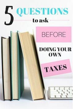 It is tax season again! Do you normally pay someone to do your taxes but are thinking of filing your return yourself this year? Here are five questions to ask first. Let' get you the maximum refund and deductions for 2017 taxes.