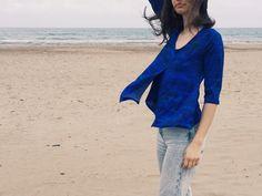 http://www.instintobcn.com/es/productos-importados/3215-rc01-v6-in-12.html Camiseta azul manga 3/4 estampada digitalmente de la colección Mar #casualOutfit #verano #CompraOnLine