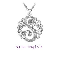 Alison & Ivy // Single Initial Diamond Necklace, 20mm, 0.11 cttw diamond.