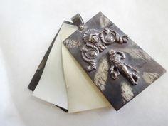 Art Nouveau Chatelaine Notebook Dance Card Memoire Pendant Antique Vintage Ladies Accessory