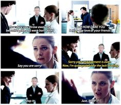 No one can put Sherlock Holmes in his place like Molly Hooper.