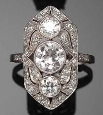 Image result for art deco panel ring