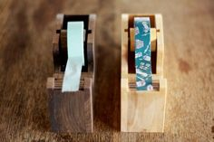 Wood Tape Dispenser (Natural). $30.00, via Etsy.
