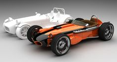 Indy roadster-style body to fit atop the Lotus/Caterham Seven chassis Auto Retro, Retro Cars, Vintage Cars, Indy Car Racing, Indy Cars, Caterham Seven, Smart Roadster, Lotus 7, Automobile