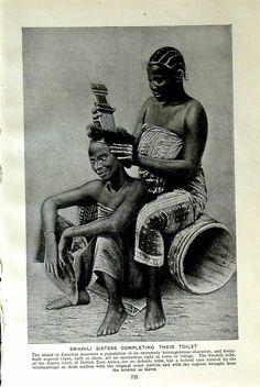 c1920 Swahili Sisters Zanzibar Toilet Cage Indigo Leone.