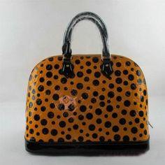 M93594 Louis Vuitton Yayoi Kusama Alma mm gelb Louis Vuitton Damen Taschen