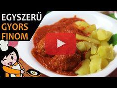 Paradicsomos húsgombóc - Recept Videók - YouTube Beef, Make It Yourself, Youtube, Foods, Meat, Potato, Tomato Sauce Recipe, Good Ideas, Chef Recipes