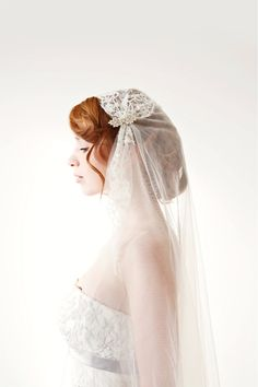 10. How gorgeous is this juliet Cap Bridal Veil from sibodesigns? With french chantilly lace and soft tulle, it's almost too perfect for words. Shop Nowsibodesigns