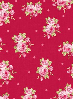 paper/ free Craft A Doodle Doo: The Freebe Jubilee-Ravishing Red Floral Collection! (And a Bonus Surprise! Print Wallpaper, Pattern Wallpaper, Floral Fabric, Floral Prints, Rose Prints, Decoration Chic, Victorian Wallpaper, Decoupage, Doodle Doo