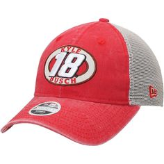3a69a891163 Kyle Busch New Era Women s Patched Pride 9TWENTY Adjustable Trucker Hat –  Red