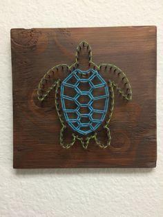 Sea Turtle String Art Más