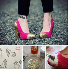 DIY FRIDAY // GLITTER SHOES