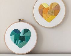 Heart Embroidery Pattern Modern Hand Embroidery Kit