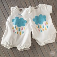 Sweetly simple summer rompers you can personalize from Hallmark artist Amber Goodvin - exclusively at Hallmark Baby