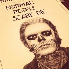American horror story. Evan Peters. Drawing.