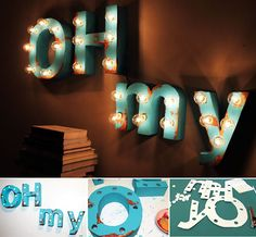 my latest DIY for Swerve magazine. illuminated marquee signage made out of foamcore! Salon Design, E Design, Boutique Decor, Diy Letters, Diy Signs, Making Out, Event Planning, Signage, Craft Projects
