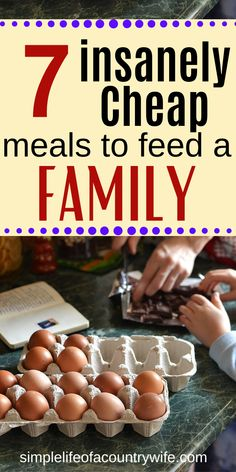 7 Insanely Cheap Meals to Feed a Family - Do you need some dirt cheap meal idea. 7 Insanely Cheap Meals to Feed a Family – Do you need some dirt cheap meal ideas for your family Dirt Cheap Meals, Inexpensive Meals, Cheap Dinners, Healthy Cheap Meals, Cheap Food, Eating Healthy, Clean Eating, Frugal Meals, Budget Meals