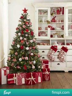Świąteczne dekoracje #christmas #decor #christmas tree #gifts #sock #święta
