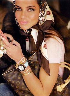 Adriana Lima for Louis Vuitton in Paris Vogue