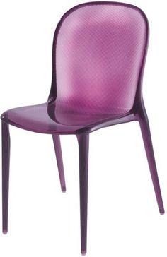 kartell thalya chair transparent violet